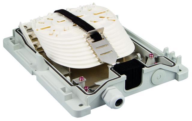 IP54 veggboks med fiberoptisk spleisekassett system