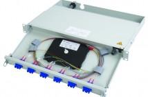 19″ patch panel for fiber med uttrekkbar skuff. Profi V