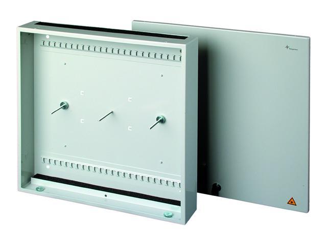 Fiberoptisk veggboks for innendørs bruk. Combi
