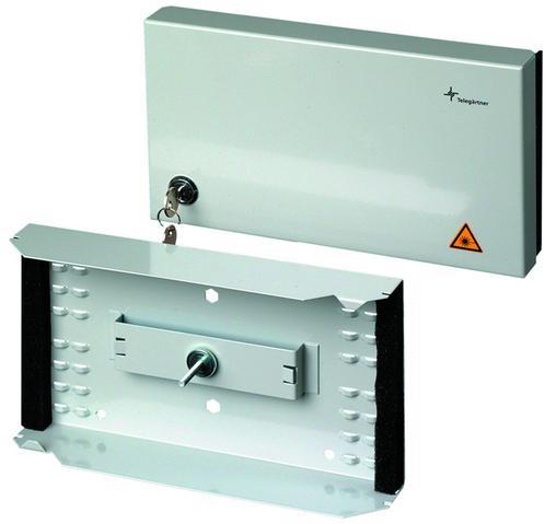Fiberoptisk veggboks for innendørs bruk. Compact