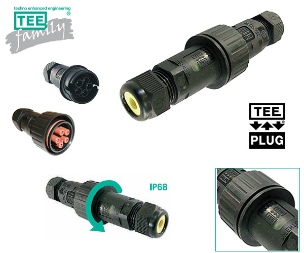 Techno TeePlug vanntette kontakter