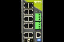 Hardened managed switch med 8+2 gigabit porter
