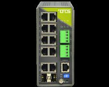 Hardened managed switch for industrielt ethernet 10 port