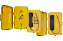 J&R 3G industritelefon med og uten dør, med og uten tastatur