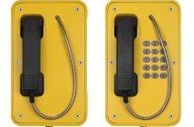 J&R Analog industritelefon uten dør. Med og uten tastatur