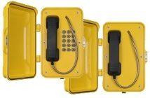 J&R VoIP industritelefon med dør. Med og uten tastatur