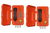 J&R VoIP Ex telefon med dør. Med og uten tastatur.